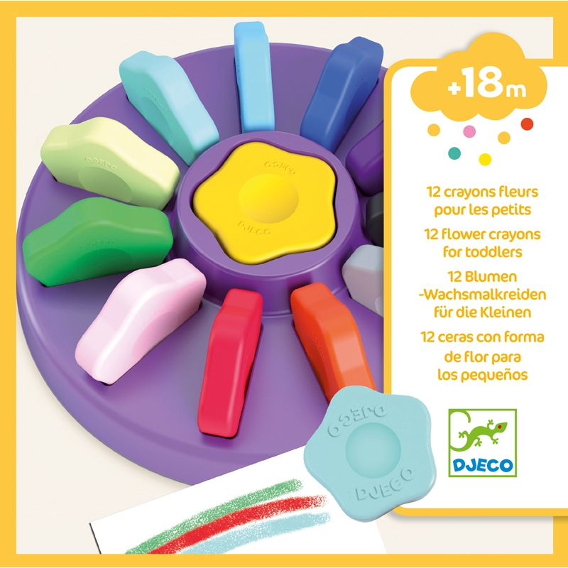 Marokkréta - 12 színű vírág - 12 flower crayons for toddlers - 0