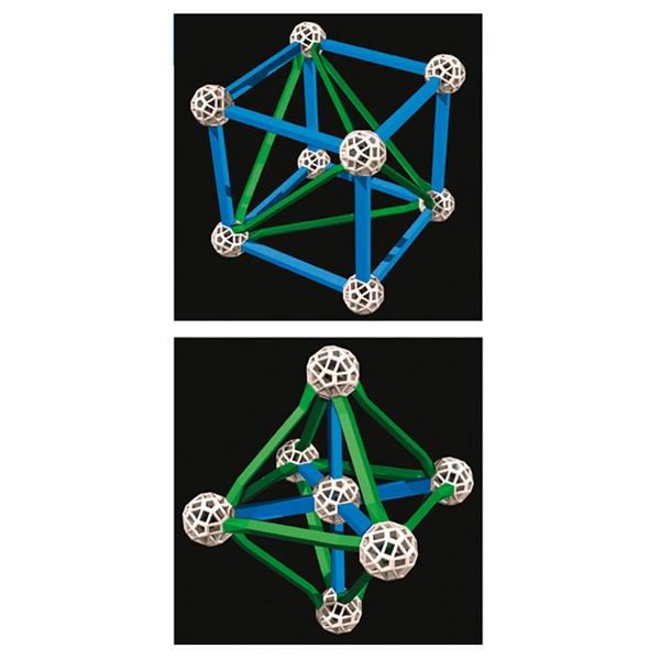 Tudományos modellező készlet  - Zöld pálcák - Green Lines - 1