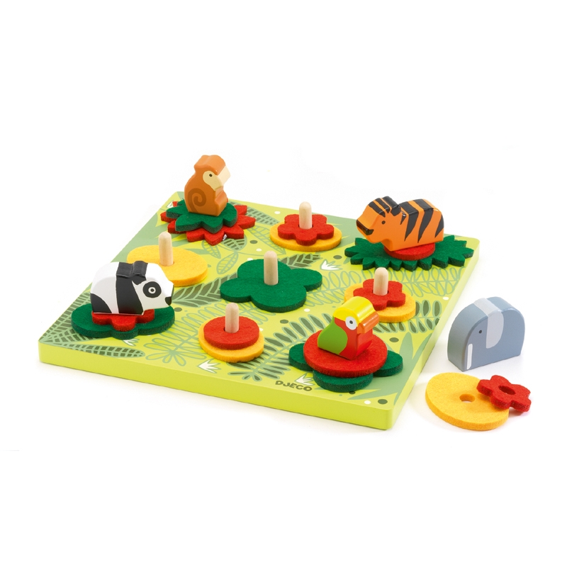 Formaillesztő, formakirakó - Dzsungel állatok - Crea-stacking jungle - 0