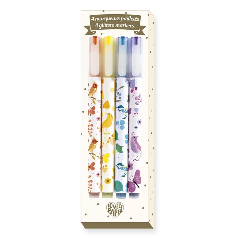 Csillámtoll, 4 szín - 4 Tinou glitter markers - 0