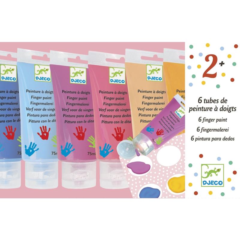 Ujjfesték - 6 szín tubusban - 6 finger paint's tubes - Sweet - 0