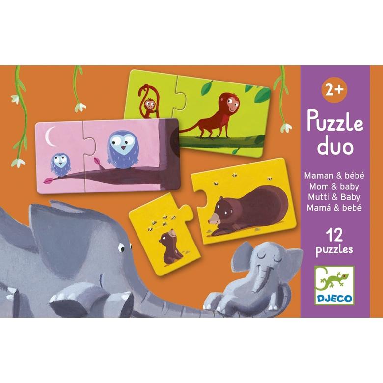 Párosító puzzle - Mama-baba - Mom and baby - 0