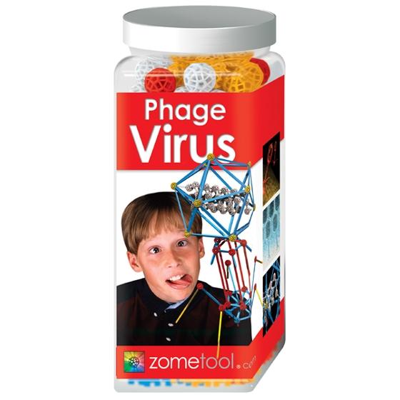 Tudományos modellező készlet - Vírusölő baktérium -Bakteriofág - Phage Virus - 0