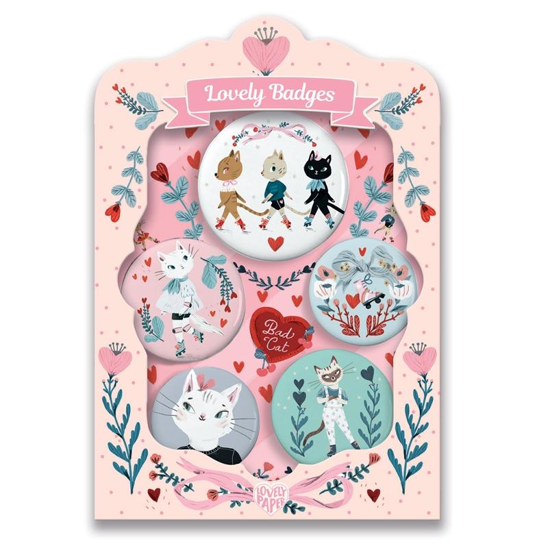 Kitűzők - Macskák - lovely badges - 0