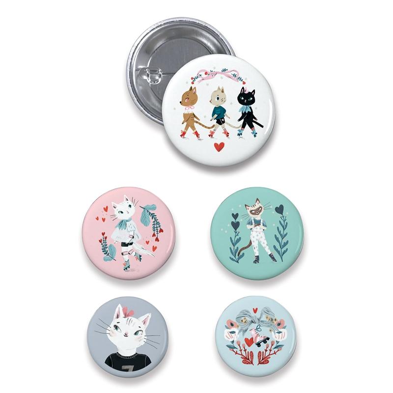 Kitűzők - Macskák - lovely badges - 1