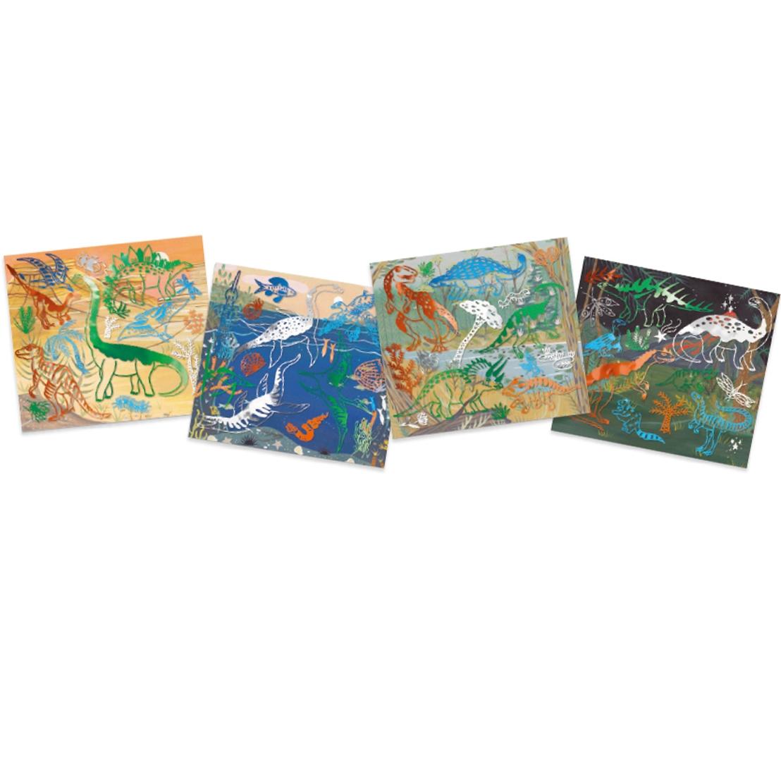 Metálkép készítés - Dinoszauruszok - Collages - Dinosaurus - 2