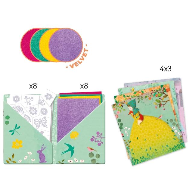 Bársonykép készítés - Kis hölgyek - Collages - Fair maidens - 1