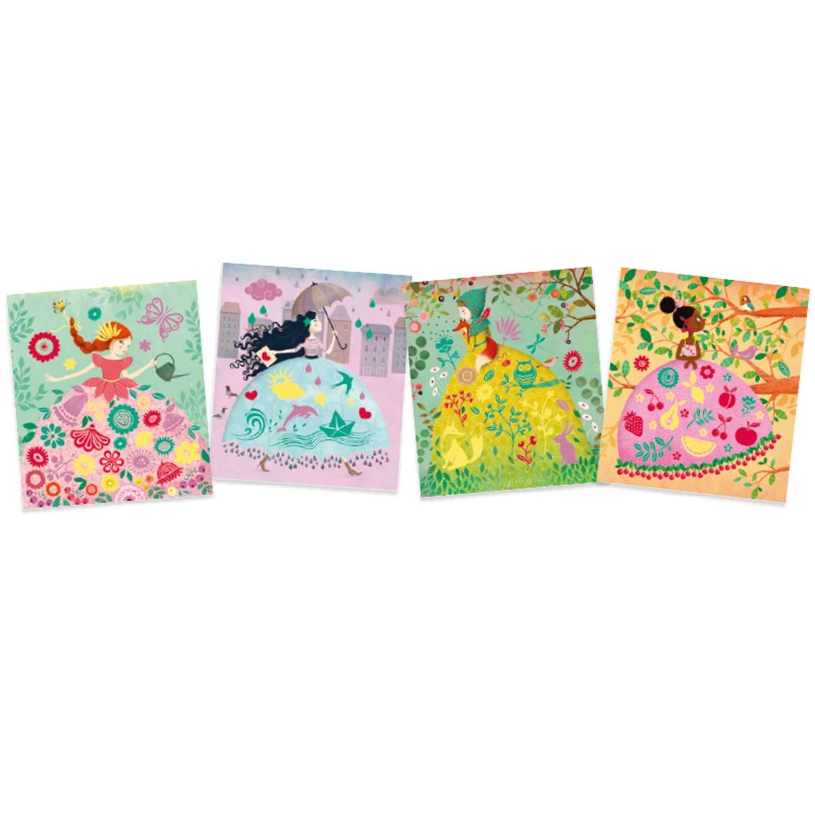 Bársonykép készítés - Kis hölgyek - Collages - Fair maidens - 2