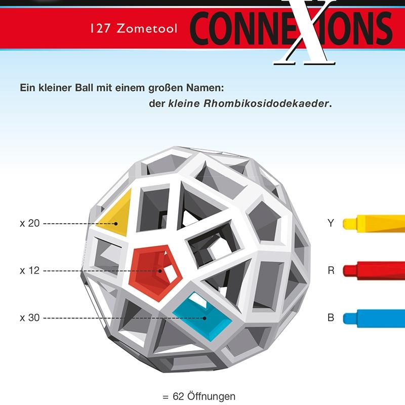 Tudományos modellező készlet - ConneXions 127 színes gömb - 3