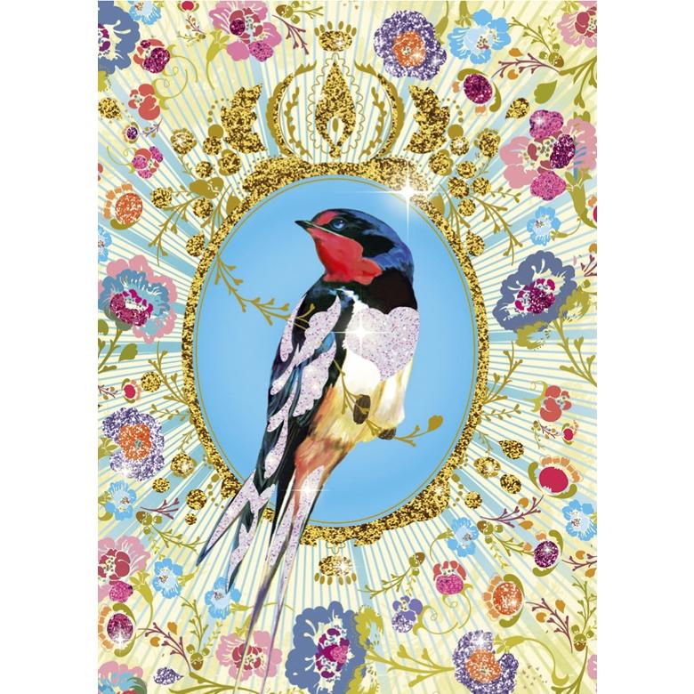 Csillámkép készítő - Csillogó madarak - Glitter birds - 1