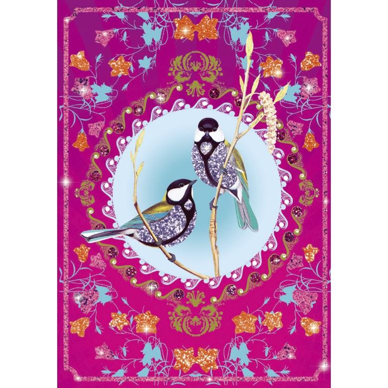 Csillámkép készítő - Csillogó madarak - Glitter birds - 2