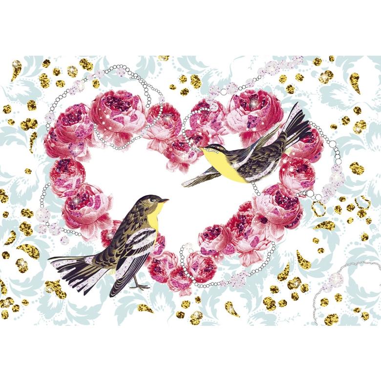 Csillámkép készítő - Csillogó madarak - Glitter birds - 4
