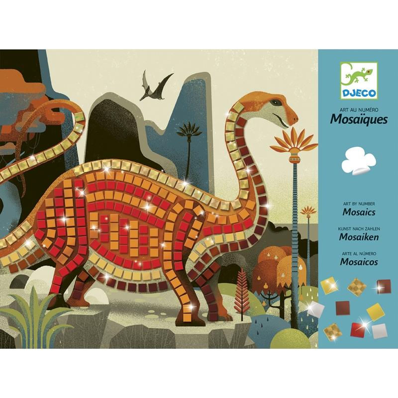 Mozaikkép készítés - Dínók - Dinosaurs - 0