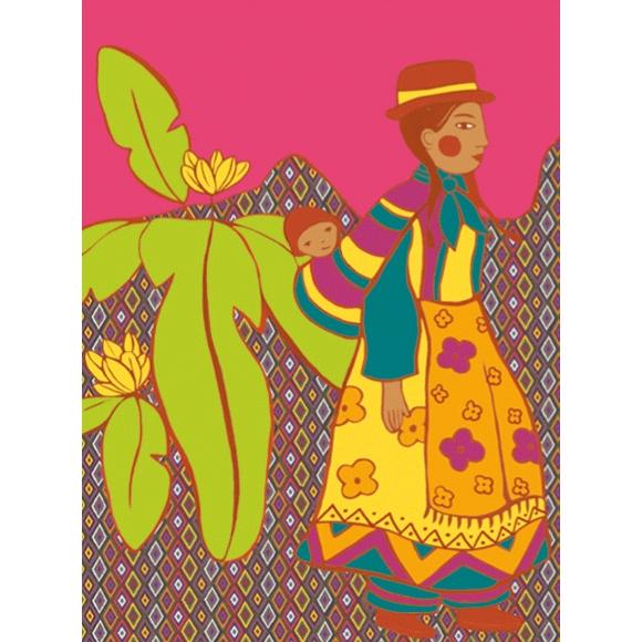 Művészeti műhely - Kifestő, Népek öltözékei - Dresses of de world - 1