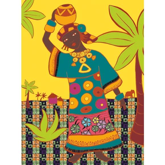 Művészeti műhely - Kifestő, Népek öltözékei - Dresses of de world - 2