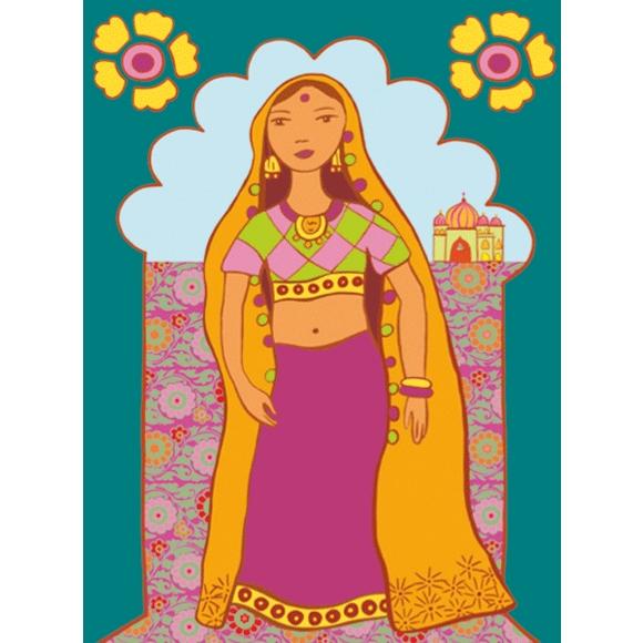 Művészeti műhely - Kifestő, Népek öltözékei - Dresses of de world - 3