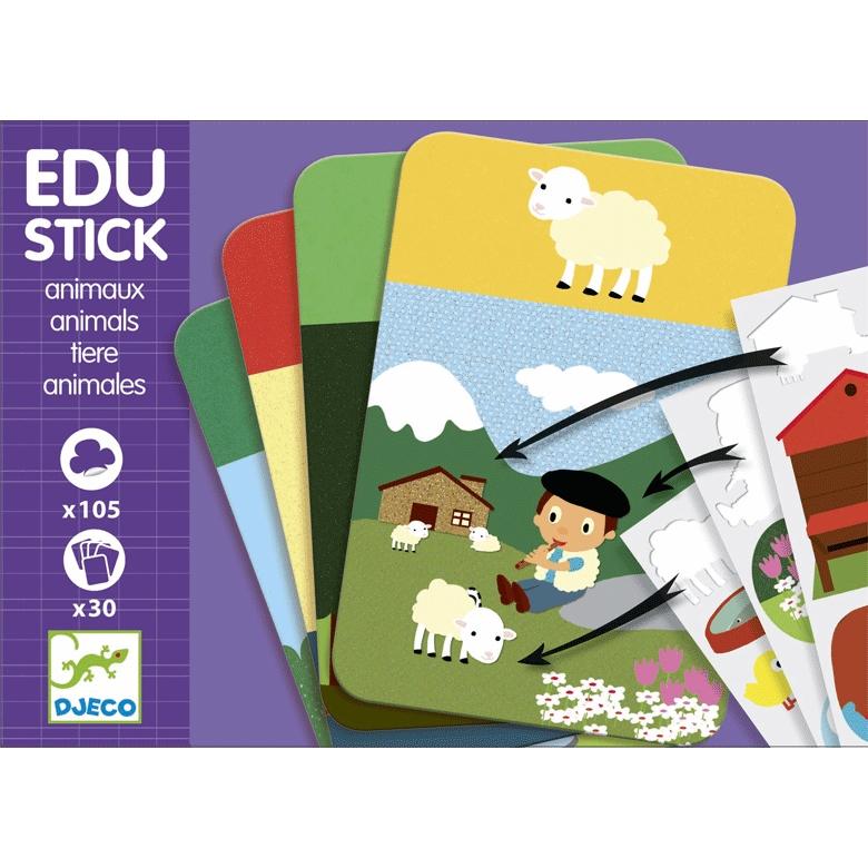 Fejlesztő matricázó - Állatok - Edu Stick Animals - 0