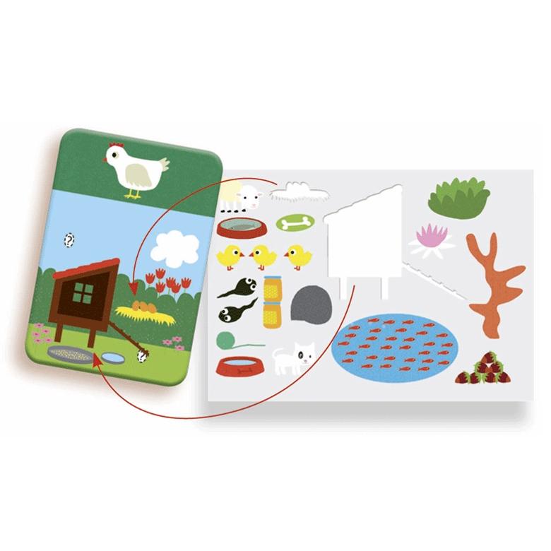 Fejlesztő matricázó - Állatok - Edu Stick Animals - 1