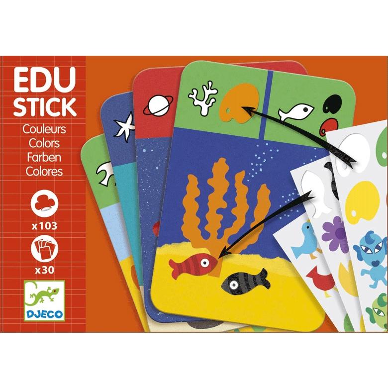 Fejlesztő matricázó - Színek - Edu Stick Colors - 0