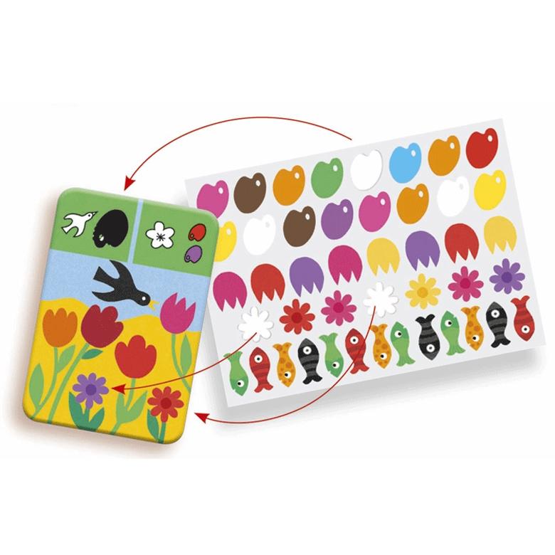 Fejlesztő matricázó - Színek - Edu Stick Colors - 1