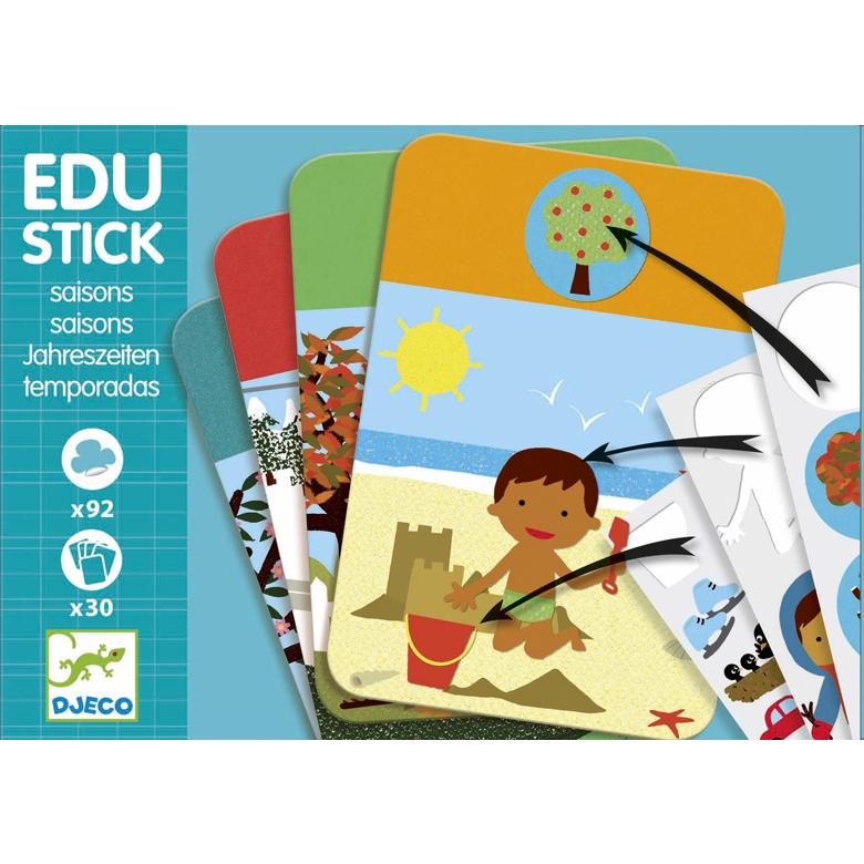 Fejlesztő matricázó - Évszakok - Edu Stick Seasons - 0