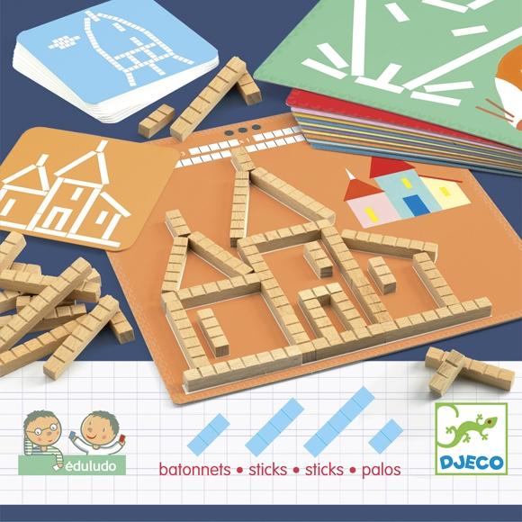 Fejlesztő játék - Mérőrúd-hálózat - Eduludo sticks - 0