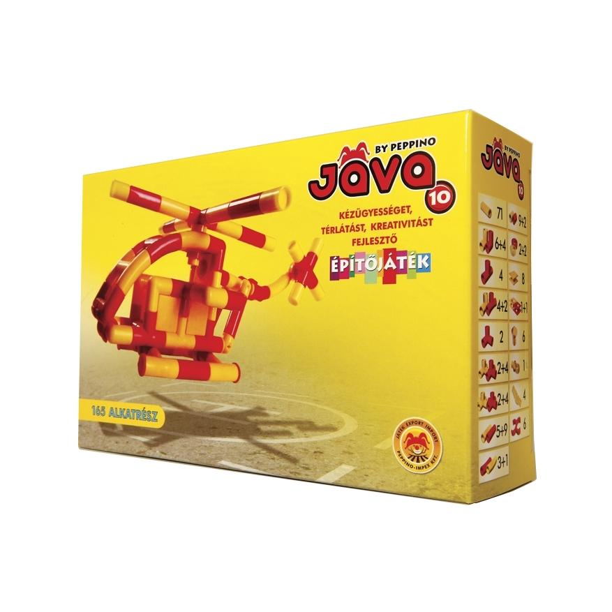 Építőjáték  - Jáva 10 építő (165 elem) helikopter - 0