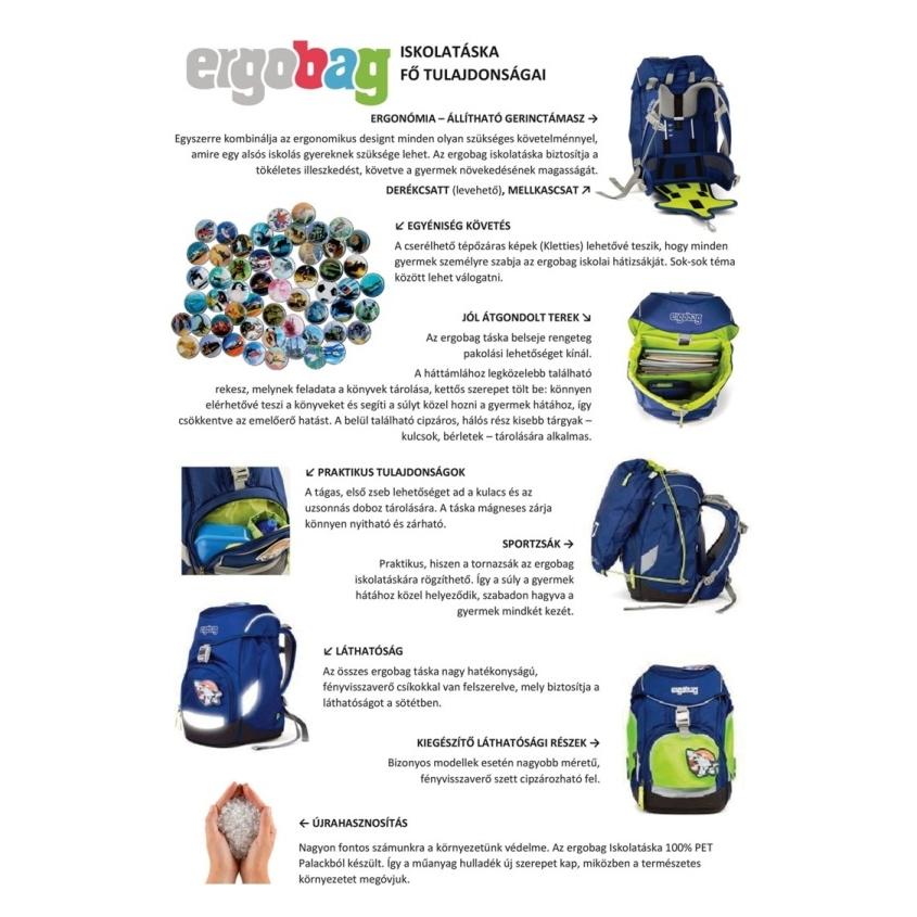 Ergobag Prime iskolatáska - hátizsák - LumBEARjack - 5