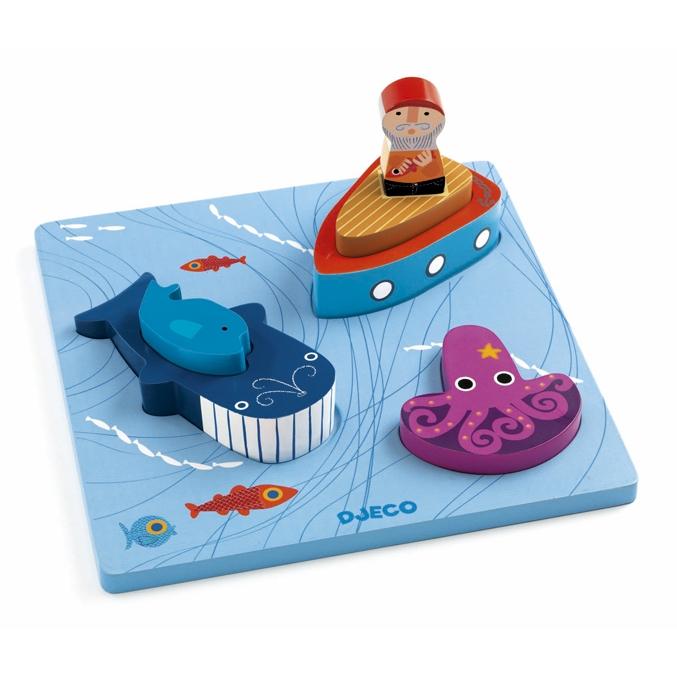 Formaillesztő, formakirakó - Bálnavadász a tengeren - Moby - 0