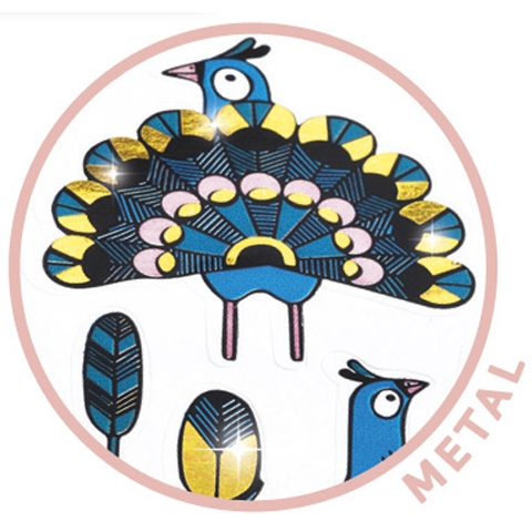 Mini matrica - Pávák és tollak - Feathers and peacocks - 1