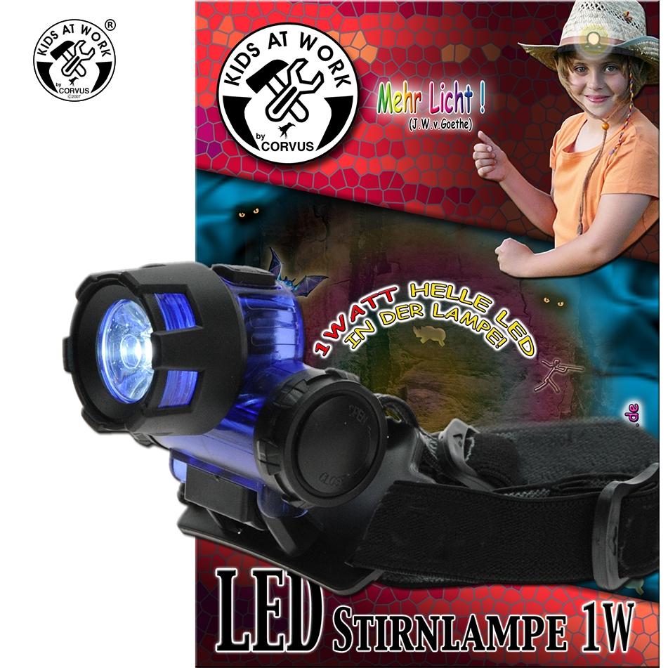 Fejlámpa LED-es, 1 W - 0