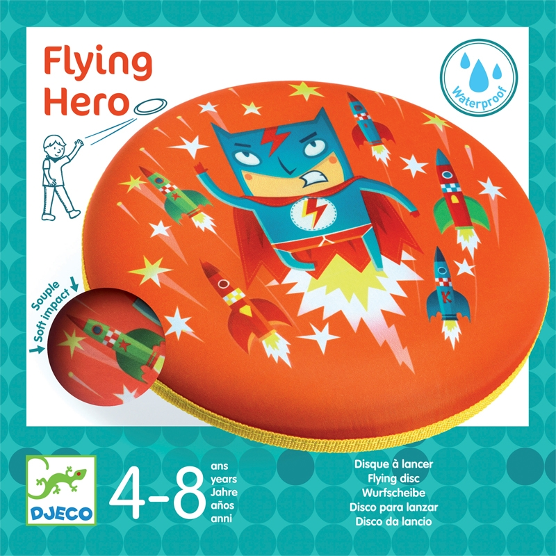 Frizbi - Hősök frizbije - Flying Hero - 0