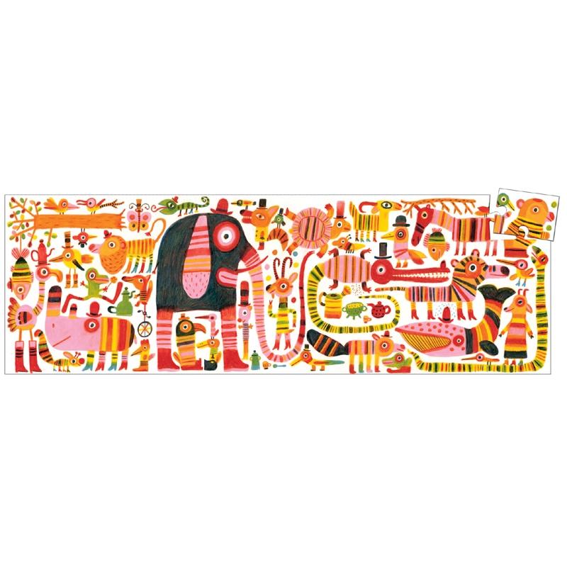 Művész puzzle - Foltokban csíkok, 36 db-os - Covered in stripes - 0