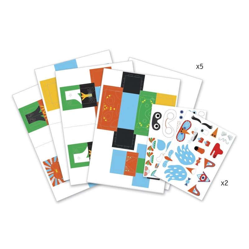 Papírszobor műhely - Vidám állatok - Funny animals - 1