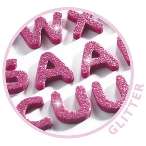 Mini matrica - Csillogó betűk - Glitter letters - 1