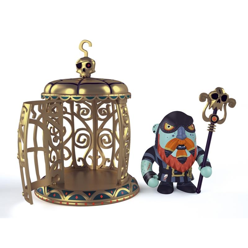 Kalóz ketreccel - Gnomus & Ze cage - 0