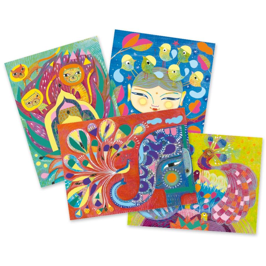 Művészeti műhely, festés - Indiai hangulat - India - 1