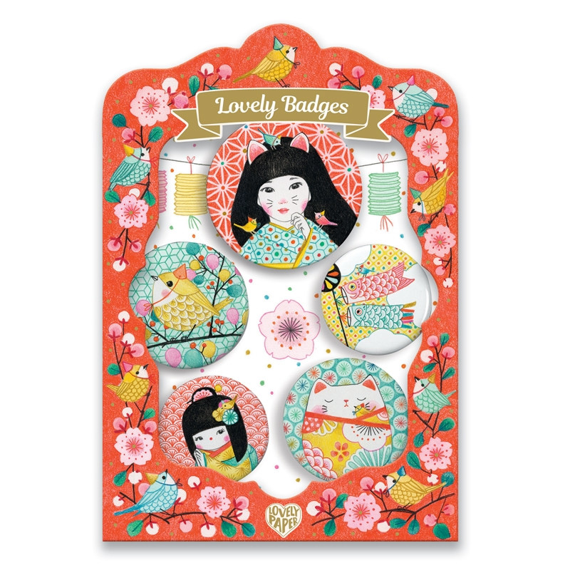 Kitűzők - Japán - lovely badges - 0