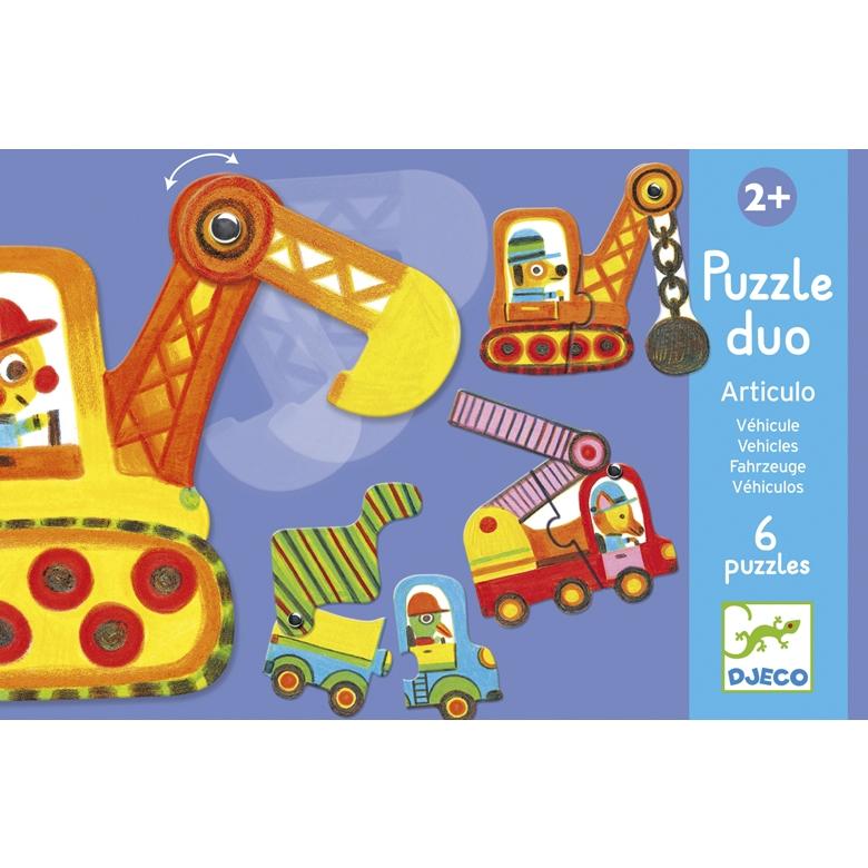 Párositó puzzle - Munkagépek - Articulo vehicles - 0