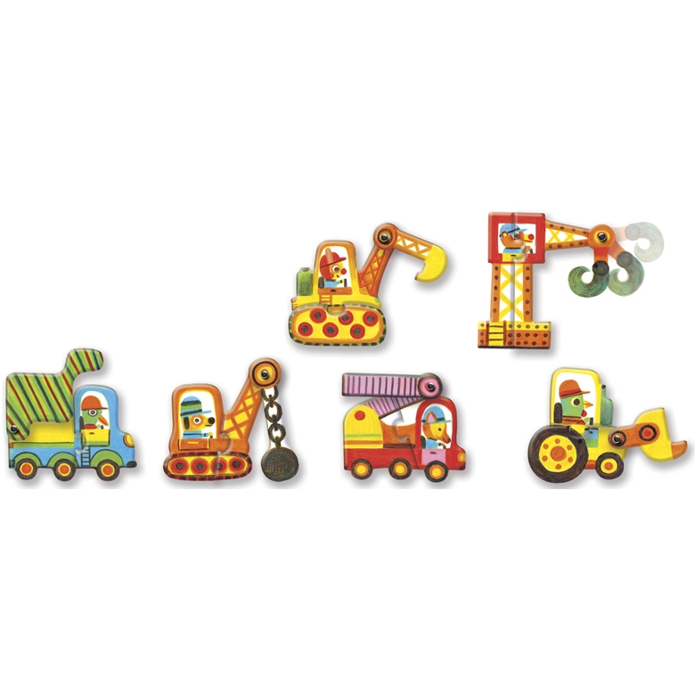 Párositó puzzle - Munkagépek - Articulo vehicles - 1