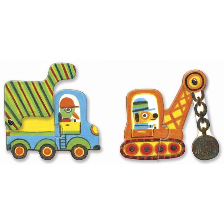 Párositó puzzle - Munkagépek - Articulo vehicles - 2