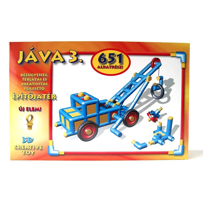 Építőjáték  - Jáva 3. építő (651 elem) klasszikus - 0