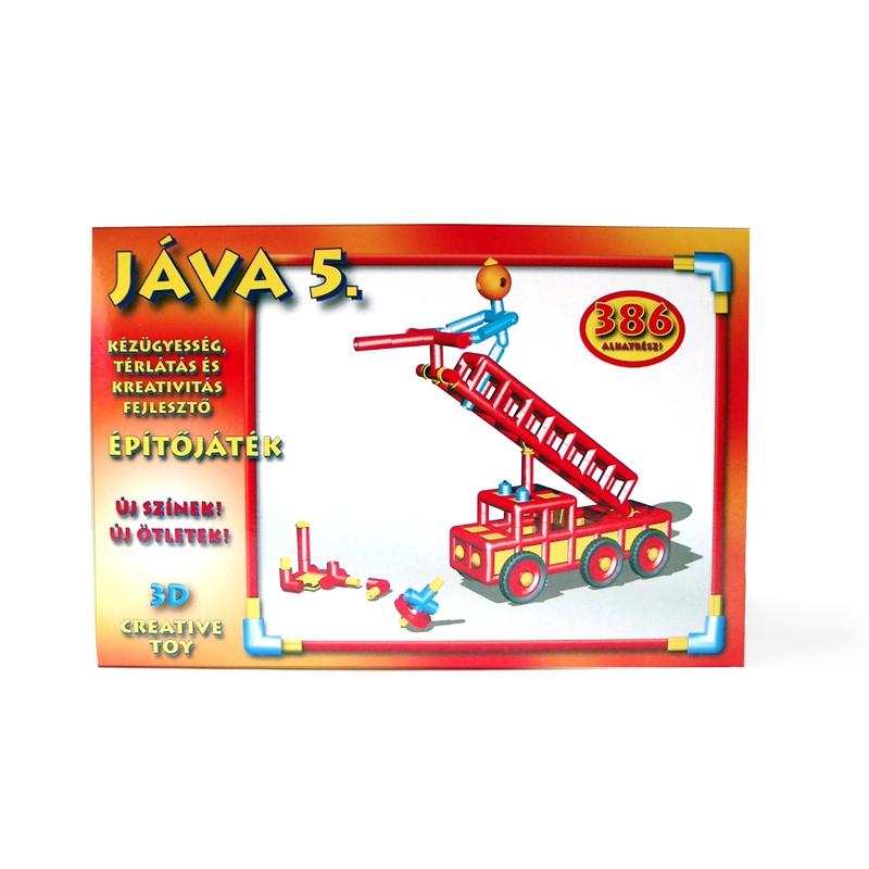 Építőjáték  - Jáva 5. építő (386 elem) piros színekkel - 0