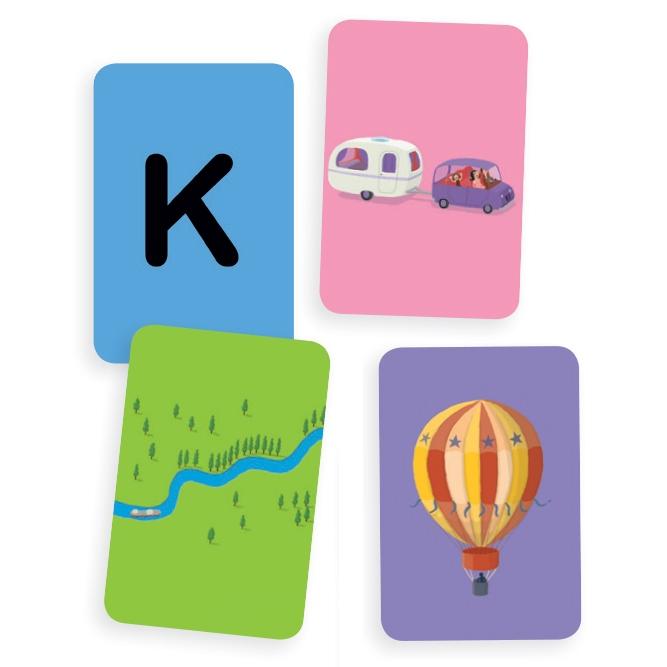 Mini utazó játékok - Betű-kép - Katuvu - 1