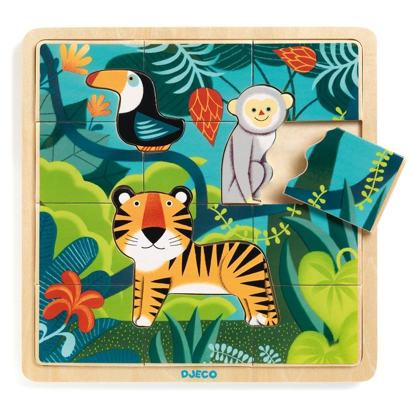 Képkirakó, puzzle - Dzsungel puzzle - Puzzlo Jungle - 0