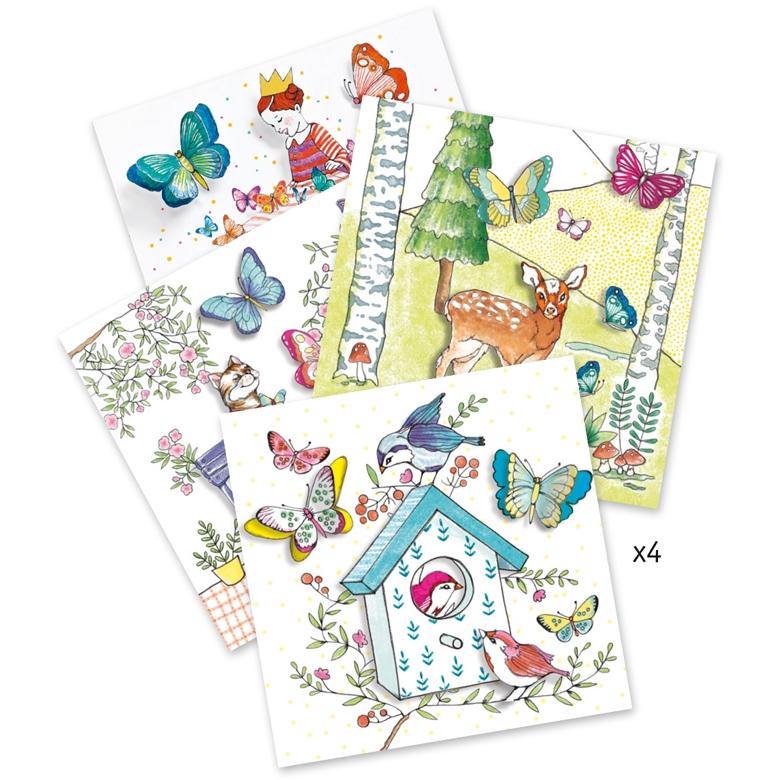 Meglepetés színezők - Pillangó kisasszony - Lady butterfly - 1
