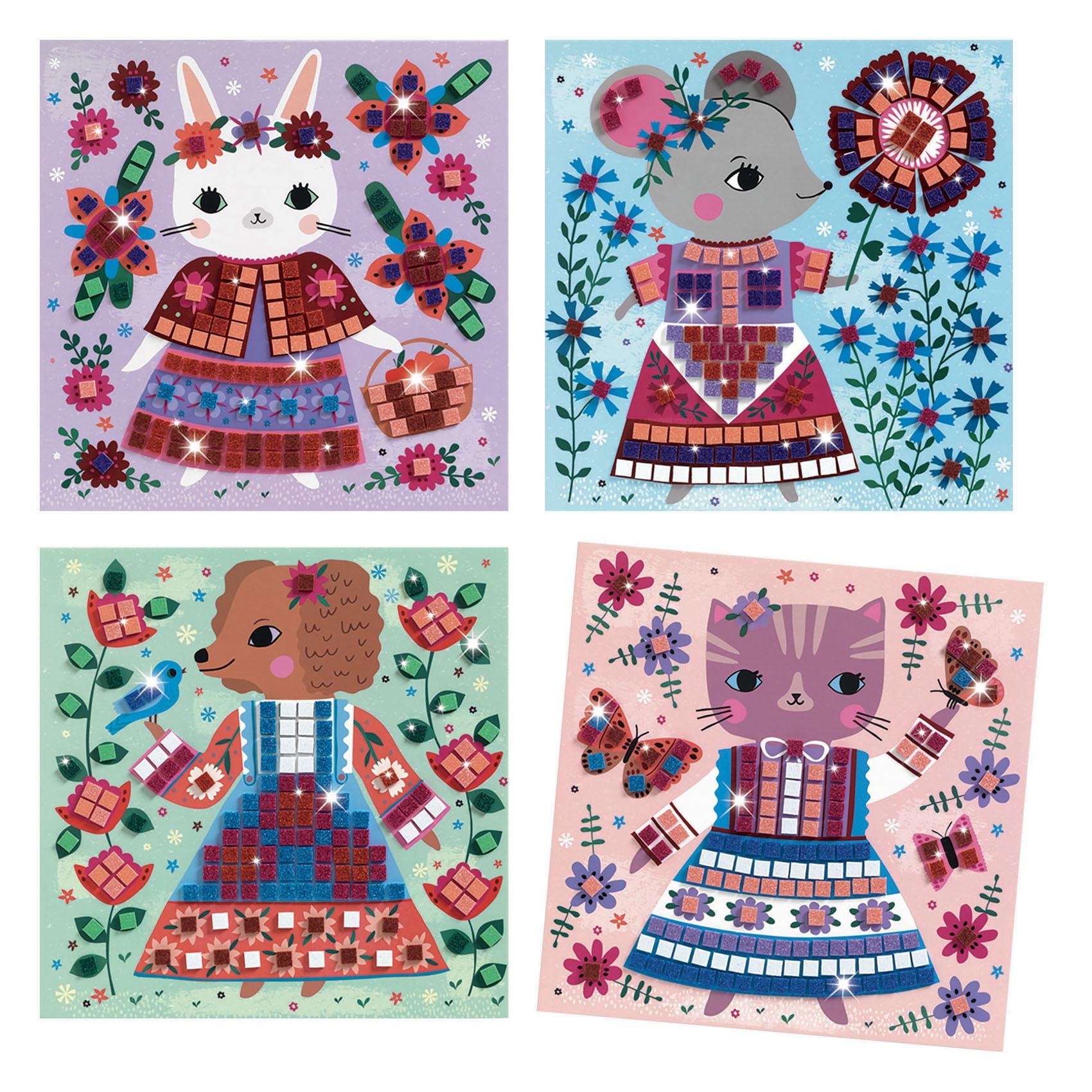 Mozaikkép készítés - Édes háziállatok - Lovely pets - 1