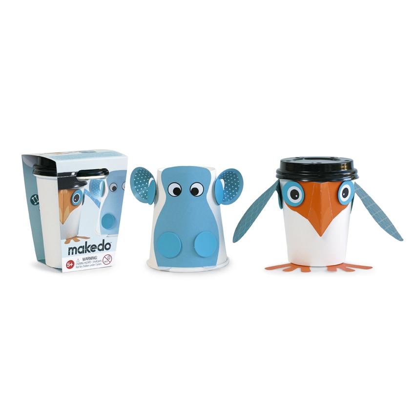 Viziló és pingvin csészefigurák - Makedo Cup Critters - 0