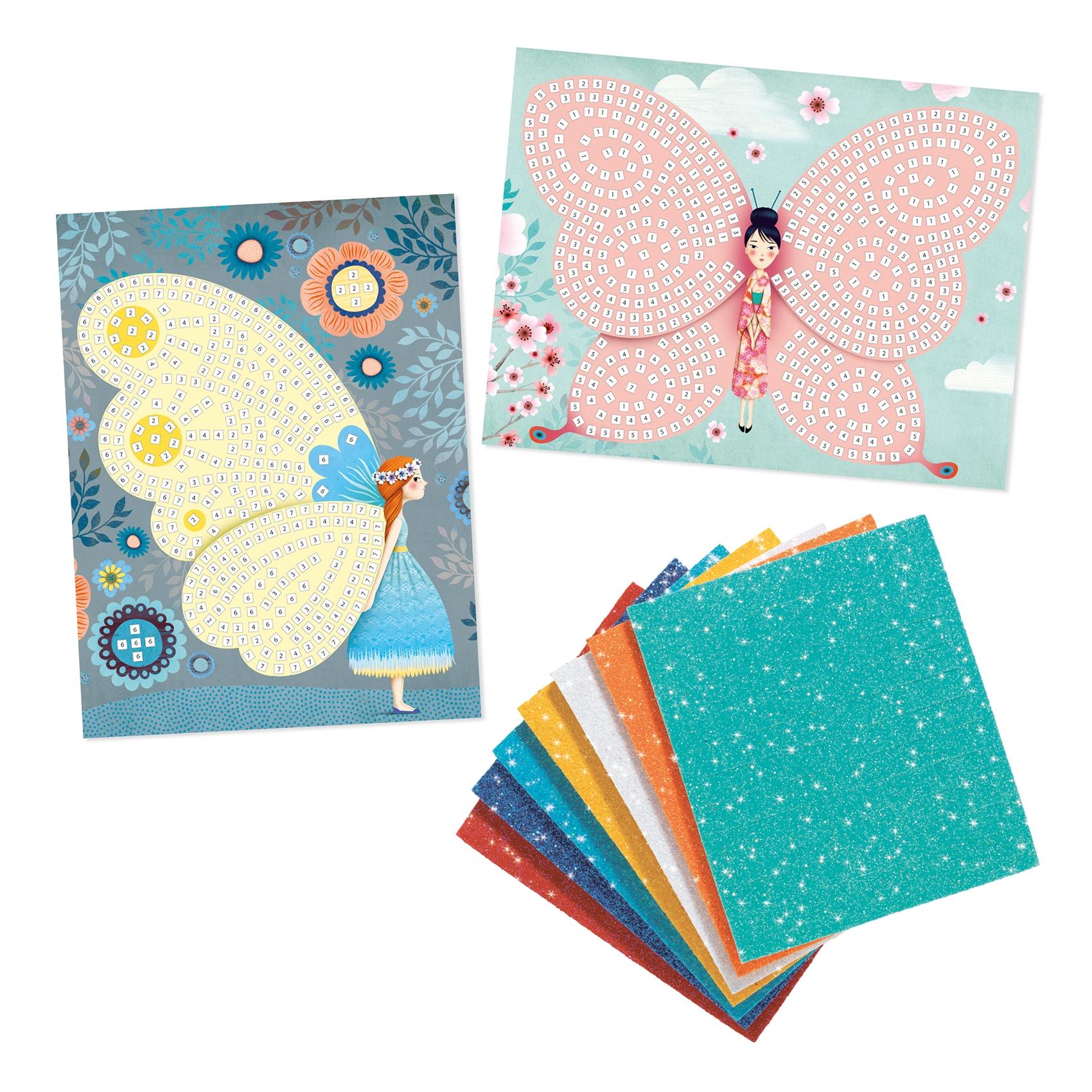 Mozaikkép készítés - Pillangók - Butterflies - 2