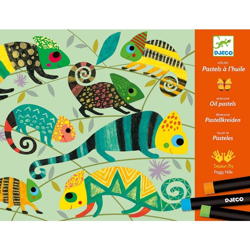 Művészeti műhely, olajpasztell - Színes dzsungel - Coloured jungle - 0